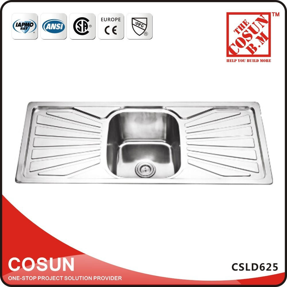 Double drainer single bowl model sink for kitchen buy sink for
