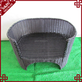 Luxury woven black rattan cat furniture with cushion pet bed dog carrier sofa
