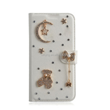 "Handmade Luxury Bling Diamond Cover Decorative Wallet Leather Mobile Phone Case For Sony Xperia Z5 Premium (5.5"")"