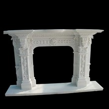 Natural Marble indoor use decorative electric fireplace no heat