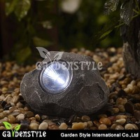 led garden light landscape path lamp, decorative rock stone spot solar garden light