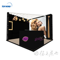 Detian Offer 3x3m hair trade fair display booth exhibition stand