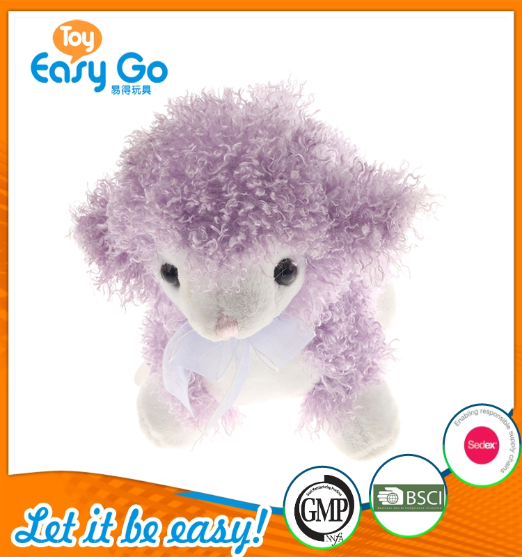 promotion standing purple sheep with tie