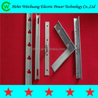 Tension / Straight Galvanized Steel Cross Arm , Alley Arm Crossarm Brace/angle steel