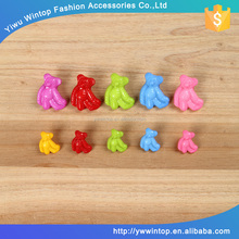 bear shape colorful shank plastic animal button