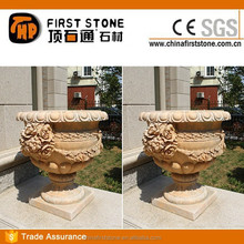 MGV361 Red Stone Flower Pot Garden Products Wholesale