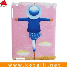 pink color accessory,case for ipad with lovely child picture