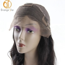 China manufacturer wholesale cheap 100% virgin black women brazilian human hair lace front wigs with bangs