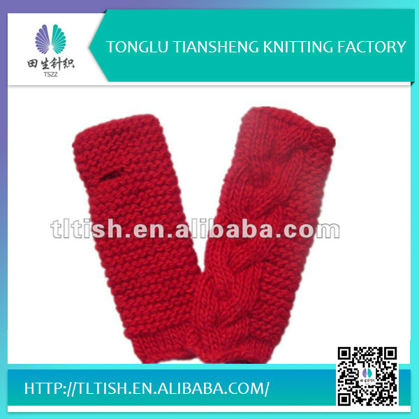 Fashion hot selling new design knitted warm soft fleece fashion kids finger gloves