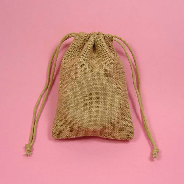 eco-friendly small organic cotton flour bag drawstring
