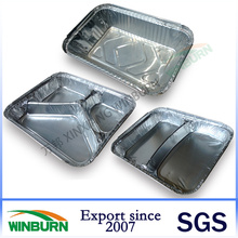 Aluminum Takeaway Foil Container In One Compartment