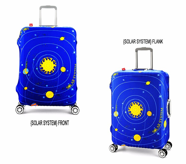 New design full printing elastic spandex suitcase cover protector