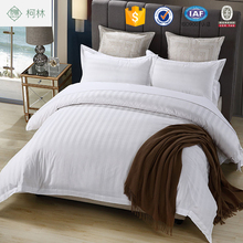 hot cake cheap price apartment use wholesale 3cm stripe satin softtexile hotel bedsheet bedding sets fabric 60*60s T330