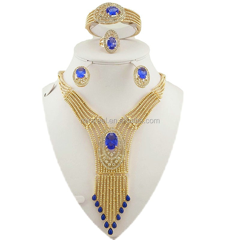 new design high quality jewelry costume jewelry gold filled jewelry set 2016 fashoin design