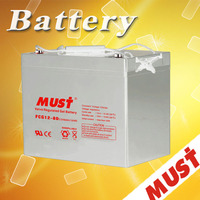 Long Life 12V 80Ah Gel Battery for solar power systems