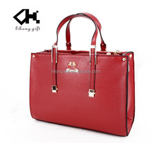 2015hot sell high class fashion lady PU leather handbags brand
