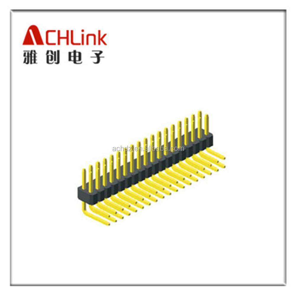 high quality PIN HEADER Connector 1.0mm pitch double row right angle type china factory ACHLINK