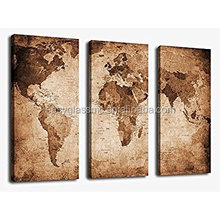 Canvas wall art prints vintage world map painting ready to hang