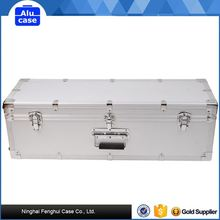 aluminum alloy matchlock gun case with safe lock and high density foam lining