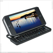 Mini phone keyboard ,Standing & Sliding Bluetooth Keyboard with Case for iPhone 5 P-IPH5BLUEKB0013