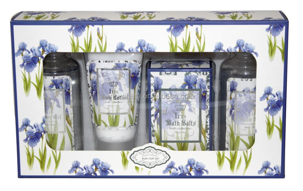 Natural Flower collection bath gift set shower gel bubble bath body lotion body scrub