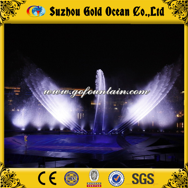 Top rotating fountain nozzles for music fountain built in the lake or river