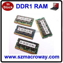 clearance stock 333mhz 8bits laptop/sodimm 1gb ram ddr pc2700