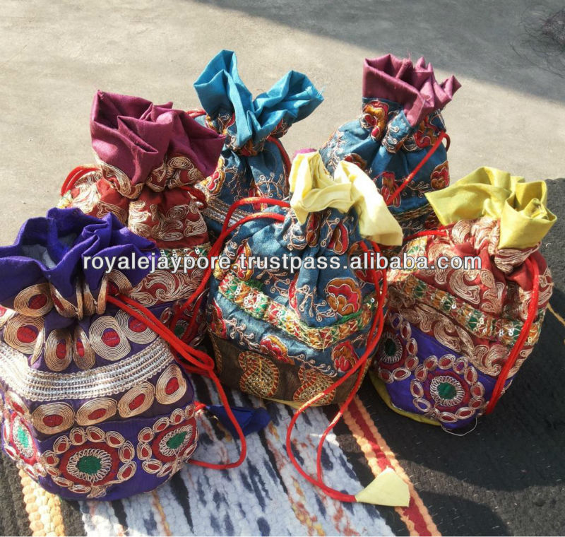 Wholesale Ethnic Indian Potli Pouch Wedding Favor Gift Jewelry Packing Bag