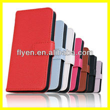 "Plain Color Litchi Hot Selling Wallet Case for iPhone 5 Leather Case for iphone 5"" Case Phone Accessories Manufactures Wholesale"