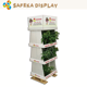 Supermarket Racks POP Retail floor corrugated displays Floating shelves exhibiting 3 tier Case stacker display for potted plant