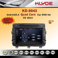 KLYDE Novel Item High Quality Android 4.4 HD Screen Quad core 16GB In Dash Entertainment Car Audio Stereo System Dvd Player Gps