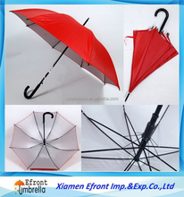UV sun crook handle stick Customized logo printing umbrella