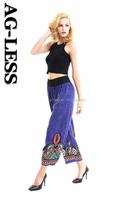 wholesale colorful triangular symbol printed loose pants for women yoga pants plus size trousers