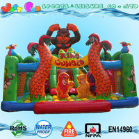 kids playground game center jungle obstacle course outdoor inflatable playground balloon