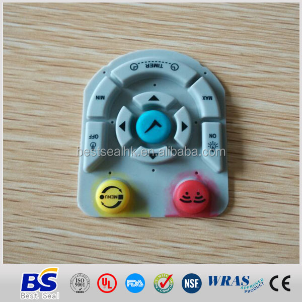 Remote control buttons keypad