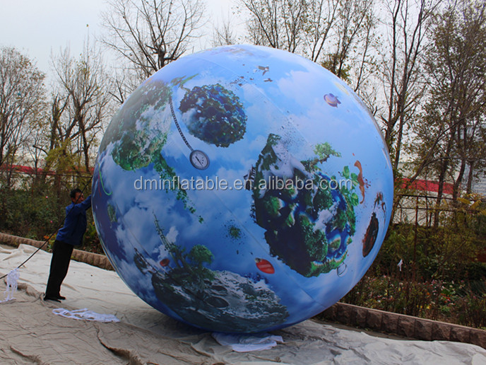 Customize digital printing advertising inflatable earth globe/giant inflatable balloon