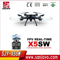 Newest RC Quadcopter Drone UAV RTF UFO with 2MP HD Camera Latest Version Upgrade Syma X5SW Wifi FPV Real-time 2.4G PK X5C /X5SC