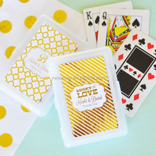 Hot Sale Personalized Metallic Foil Playing Cards wedding card decoration items