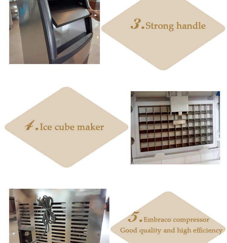 Good Reputation Quality Long Life Time CE Approved Stainless Steel Snow Ice Making Machine
