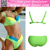 Very hot top sale latest fashion mix color sex girl bikini