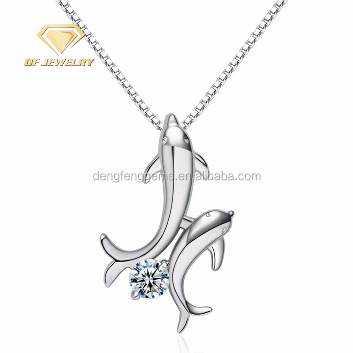 Double Fish Silver Jewellery Pendant Necklaces