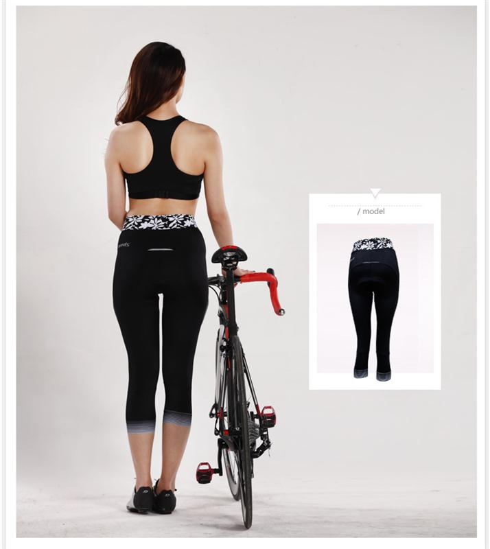 spakct wholesale high quality coolmax padding women cycling pants cycling clothing tights for women