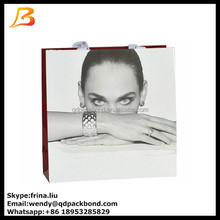 Fahion decorative customized printed craft paper bag with logo print