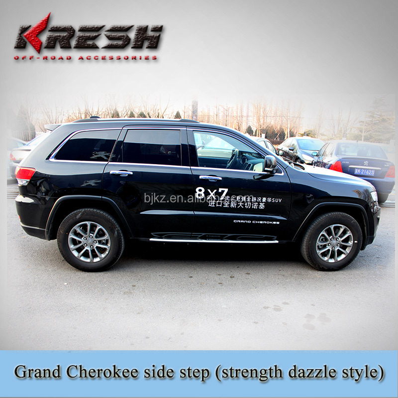 Hot sell Aluminum 4x4 SUV chrome tubular side step for Grand Cherokee, Grand Cherokee side bar