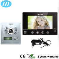 Hands-free 7inch color analog wired video door phone