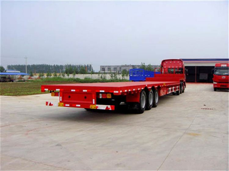 China best seller SYKE 3-axle Fuwa leg flat bed semi traliers