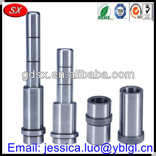 RoHS standard shaft bushing,guide pin and guide pillar in stainless/carbon/mild/harden steel material,dowels pins and shafts