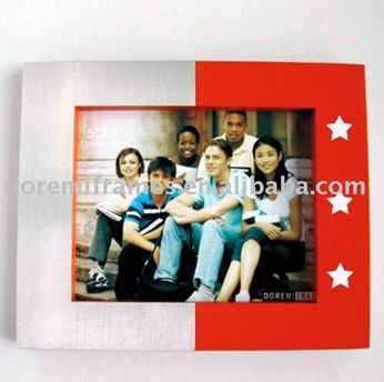 4R star shaped matel and MDF photo frame