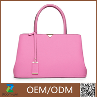 2015 New design European fashion bag leather handbags made in china