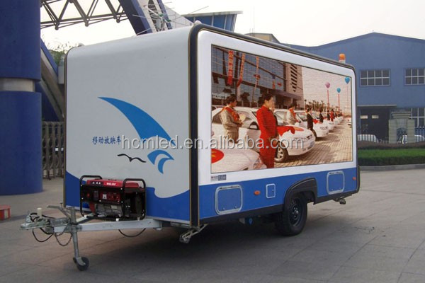 Mobile LED Screen Truck Pixel Pitch10mm Vehicle Mounted LED Screen / Moblie Advertising Trucks for Sale